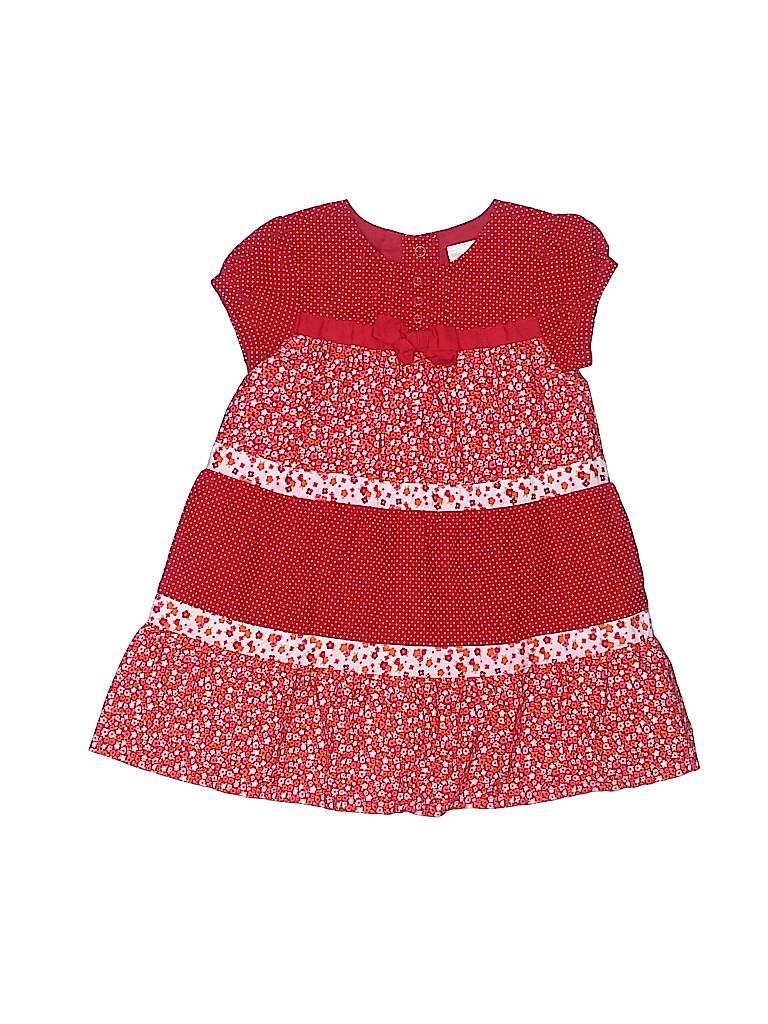 ff2c68791 Gymboree 100% Cotton Print Red Dress Size 12-18 mo - 69% off