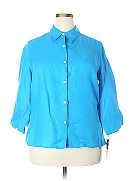 Lauren by Ralph Lauren 3/4 Sleeve Button-Down Shirt Size 1X (Plus)