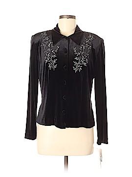 Karin Stevens Long Sleeve Button-Down Shirt Size 8