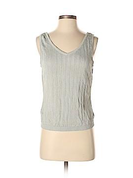 Linda Allard Ellen Tracy Sleeveless Silk Top Size M