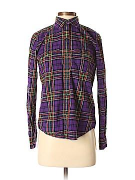 Lauren Jeans Co. Long Sleeve Button-Down Shirt Size S (Petite)