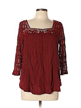 Meadow Rue 3/4 Sleeve Top Size L