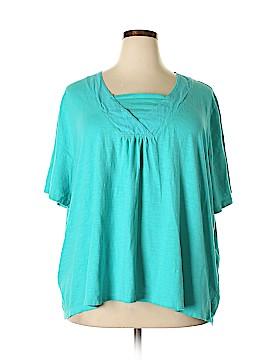 Catherines Short Sleeve Blouse Size 3X (Plus)