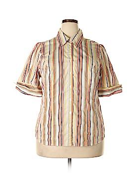 Lane Bryant Short Sleeve Button-Down Shirt Size 14 - 16 Plus (Plus)