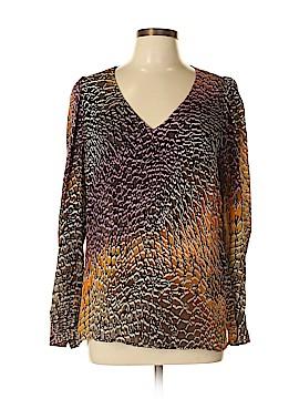 Etcetera Long Sleeve Silk Top Size 12