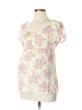 Mimi Maternity Short Sleeve Silk Top Size L (Maternity)
