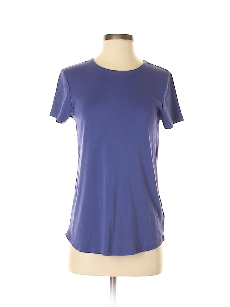 e39a26a66c4 J.jill 100% Pima Cotton Solid Dark Blue Short Sleeve T-Shirt Size S ...