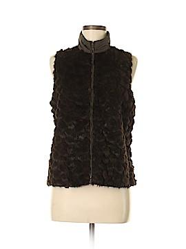 Chico's Faux Fur Vest Size Sm (0)