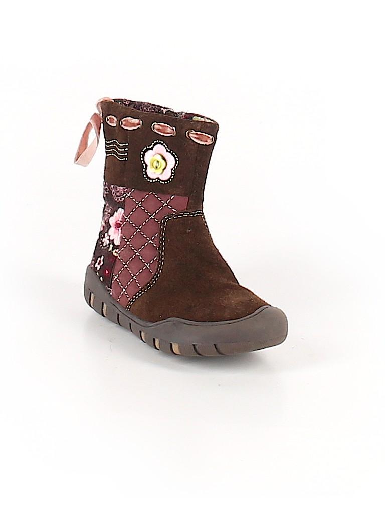 Nina Floral Brown Boots Size 7 - 55% off  fd3b14a717d4