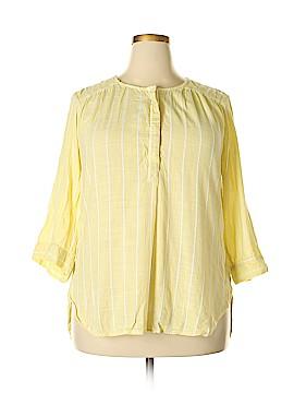 Nine West 3/4 Sleeve Button-Down Shirt Size XXL