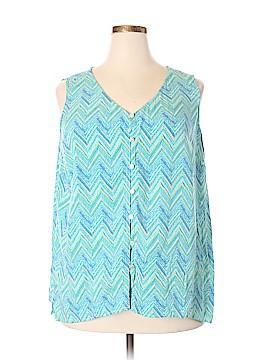 J.jill Sleeveless Button-Down Shirt Size 2X (Plus)
