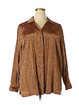 Kathie Lee Long Sleeve Blouse Size 22 - 24 (Plus)