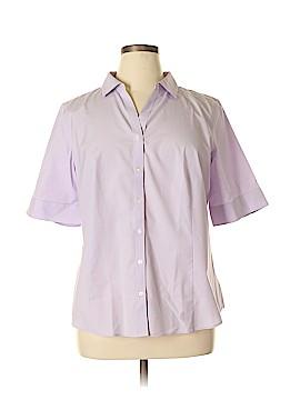 Talbots 3/4 Sleeve Button-Down Shirt Size 18 (Plus)