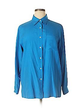 Jones & Co Long Sleeve Silk Top Size L