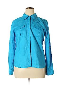 INC International Concepts Long Sleeve Button-Down Shirt Size 14