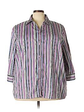 Maggie Barnes Long Sleeve Button-Down Shirt Size 30 (Plus)