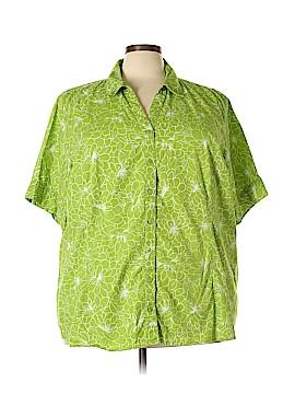 Liz & Me Short Sleeve Button-Down Shirt Size 30 (Plus)