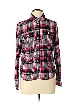 Aeropostale Long Sleeve Button-Down Shirt Size L