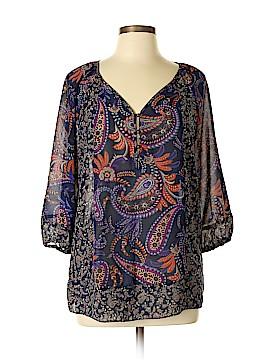 Chaps 3/4 Sleeve Blouse Size L (Petite)