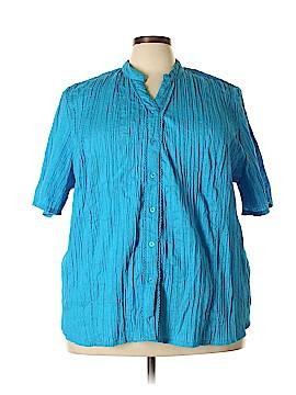 Liz & Me Short Sleeve Button-Down Shirt Size 26 - 28 (Plus)