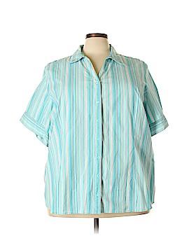 Liz & Me Short Sleeve Button-Down Shirt Size 28 (Plus)