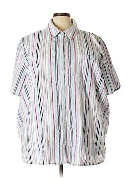 Liz & Me Short Sleeve Button-Down Shirt Size 30 - 32 (Plus)