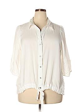Karen Kane 3/4 Sleeve Button-Down Shirt Size 1X (Plus)
