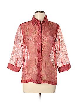 Coldwater Creek 3/4 Sleeve Button-Down Shirt Size M (Petite)