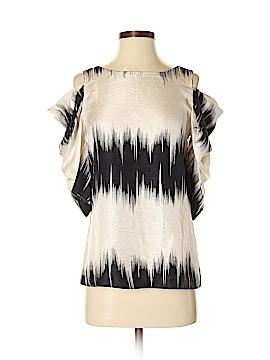 Loeffler Randall Short Sleeve Silk Top Size 2