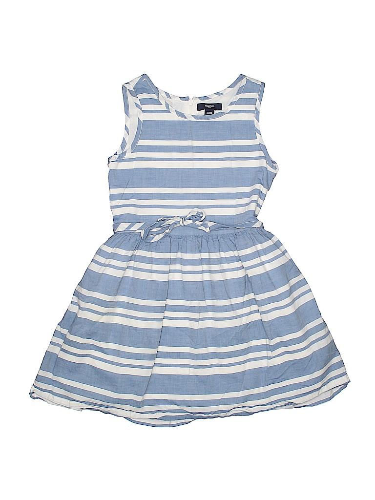 724af12c4715 Gap Kids 100% Cotton Stripes Blue Dress Size 6 - 7 - 87% off