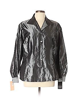 Dana Buchman Long Sleeve Silk Top Size 16