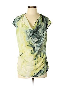 Deletta Short Sleeve Silk Top Size L