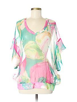 Zara Basic Short Sleeve Silk Top Size M
