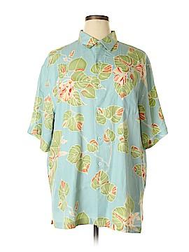 Tori Richard Short Sleeve Silk Top Size XL