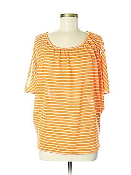 August Silk Short Sleeve Blouse Size M