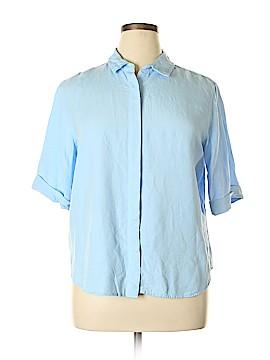 Grace Elements Short Sleeve Button-Down Shirt Size XL