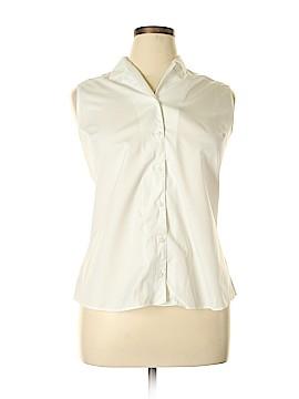 Eddie Bauer Sleeveless Button-Down Shirt Size XL