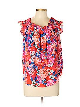 Aqua Short Sleeve Blouse Size L
