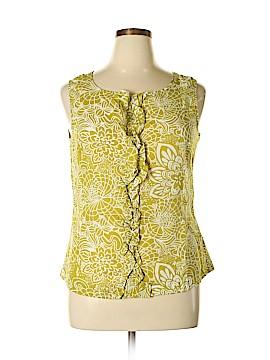 Banana Republic Factory Store Sleeveless Button-Down Shirt Size 14