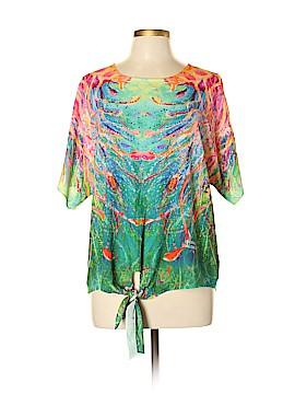 Leoma Lovegrove Short Sleeve Blouse Size L (Petite)