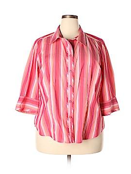 Lane Bryant 3/4 Sleeve Button-Down Shirt Size 18 / 20Plus (Plus)