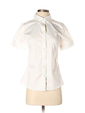 Banana Republic Factory Store Short Sleeve Button-Down Shirt Size 2