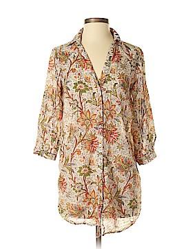 Zara Basic 3/4 Sleeve Button-Down Shirt Size M