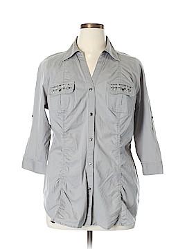 Lane Bryant 3/4 Sleeve Button-Down Shirt Size 14 (Plus)
