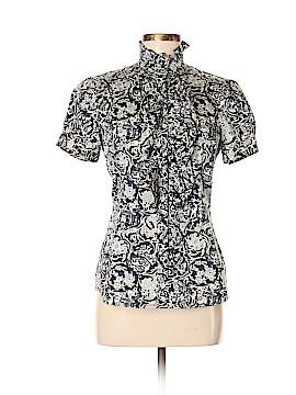 Pink Tartan Short Sleeve Button-Down Shirt Size 6