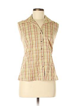 Rafael Sleeveless Button-Down Shirt Size M