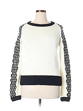 Pink Tartan Pullover Sweater Size XL