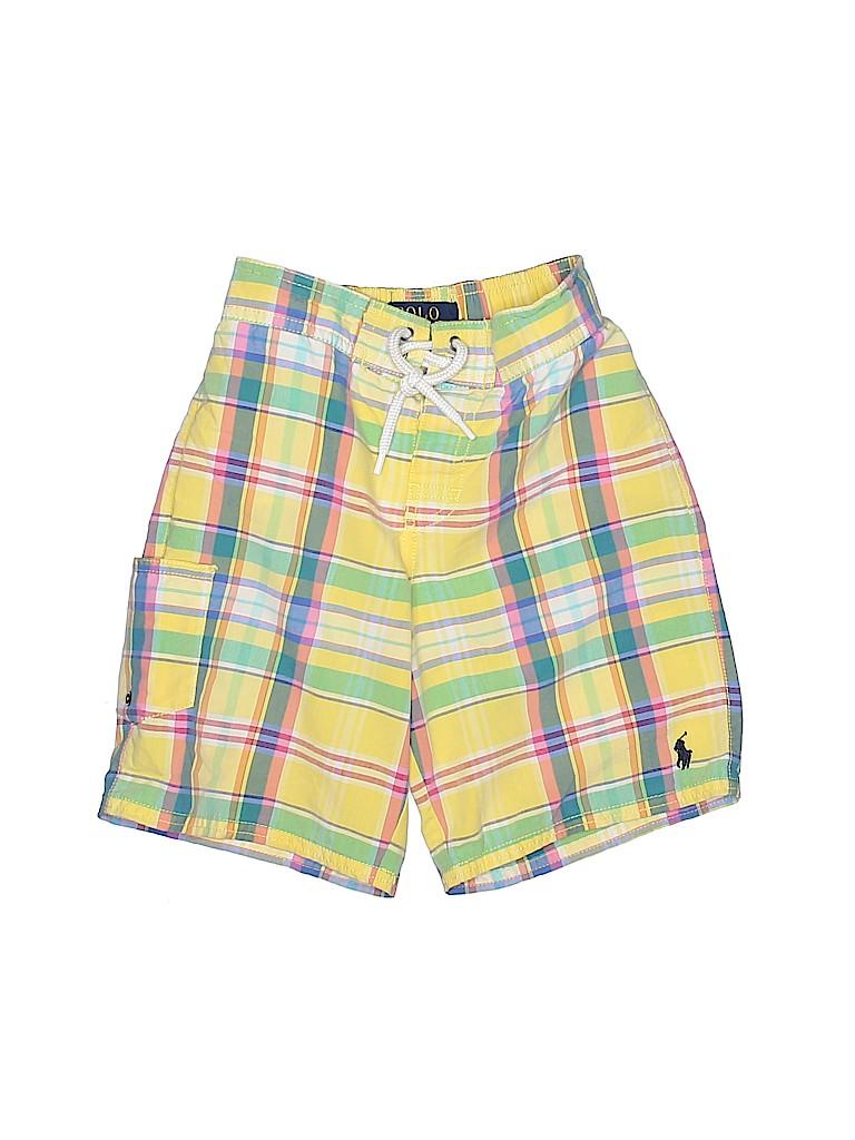 e4e2105ff39e46 Polo by Ralph Lauren Plaid Yellow Board Shorts Size 6 - 69% off ...