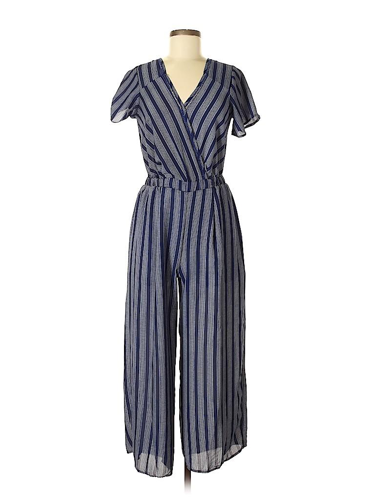 8f82518d23c7 Sienna Sky Stripes Dark Blue Jumpsuit Size M - 61% off