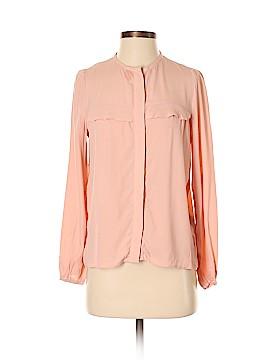 Zara W&B Collection Long Sleeve Blouse Size XS